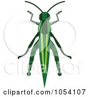 Royalty Free Vector Clip Art Illustration Of A Grasshopper by vectorace