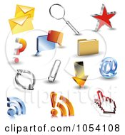 Royalty Free Vector Clip Art Illustration Of A Digital Collage Of 3d Web Browser Icons