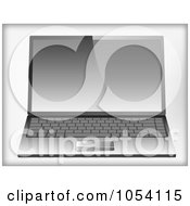 Royalty Free Vector Clip Art Illustration Of A 3d Laptop by vectorace