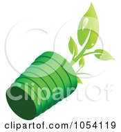 Royalty Free Vector Clip Art Illustration Of A Tipped Over Plant by vectorace