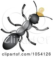 Royalty Free Vector Clip Art Illustration Of An Ant Eating Nectar