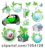 Royalty Free Vector Clip Art Illustration Of A Digital Collage Of Ecology Icons