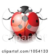Royalty Free Vector Clip Art Illustration Of A Heart Shaped Ladybug by vectorace