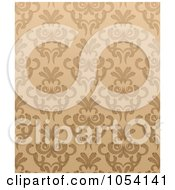 Royalty Free Vector Clip Art Illustration Of An Ornate Seamless Tan Background by vectorace