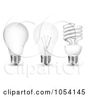 Royalty Free Vector Clip Art Illustration Of A Digital Collage Of 3d Light Bulbs