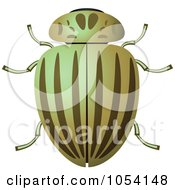 Royalty Free Vector Clip Art Illustration Of A Green Beetle