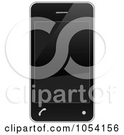 Royalty Free Vector Clip Art Illustration Of A 3d Black Cell Phone