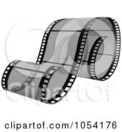 Royalty-Free Vector Clip Art Illustration of a Gray Film Strip by dero #COLLC1054176-0053