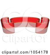 Royalty Free Vector Clip Art Illustration Of A Red And Gold Ribbon Banner With A Reflection 2