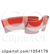 Royalty Free Vector Clip Art Illustration Of A Red And Gold Ribbon Banner With A Reflection 10