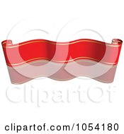 Royalty Free Vector Clip Art Illustration Of A Red And Gold Ribbon Banner With A Reflection 3
