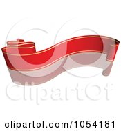 Royalty Free Vector Clip Art Illustration Of A Red And Gold Ribbon Banner With A Reflection 8