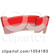 Royalty Free Vector Clip Art Illustration Of A Red And Gold Ribbon Banner With A Reflection 5