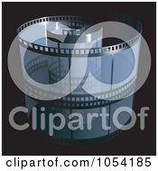 Royalty Free Vector Clip Art Illustration Of A Blue Film Strip On Black by dero