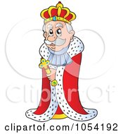 Royalty Free Vector Clip Art Illustration Of A King by visekart