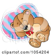Royalty Free Vector Clip Art Illustration Of A Napping Teddy Bear