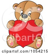 Royalty Free Vector Clip Art Illustration Of A Teddy Bear With A Heart