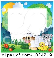 Royalty Free Vector Clip Art Illustration Of A Frame Of Spring Animals