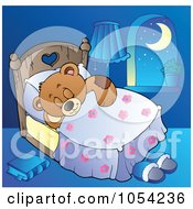Royalty Free Vector Clip Art Illustration Of Teddy Bear Sleeping