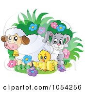 Royalty Free Vector Clip Art Illustration Of Spring Animals by visekart