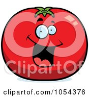 Royalty Free Vector Clip Art Illustration Of A Happy Tomato Character