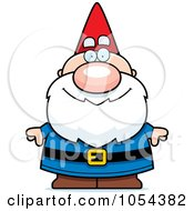 Royalty Free Vector Clip Art Illustration Of A Gnome by Cory Thoman