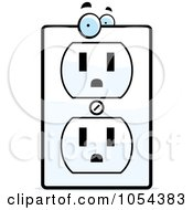 Royalty Free Vector Clip Art Illustration Of An Electrical Outlet Character