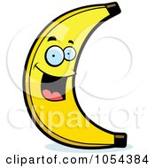 Royalty Free Vector Clip Art Illustration Of A Happy Banana Character