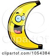 Royalty Free Vector Clip Art Illustration Of A Happy Banana Character