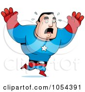 Royalty Free Vector Clip Art Illustration Of A Super Man Panicking