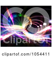 Royalty Free Clip Art Illustration Of A Fractal Tunnel Background