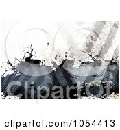 Royalty Free Clip Art Illustration Of A Grungy Hazard Stripes Background