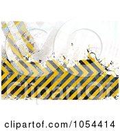 Royalty Free Clip Art Illustration Of A Grungy Yellow And Black Hazard Stripes Background