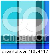 Royalty Free Clip Art Illustration Of A Blue Plaid Background by Arena Creative