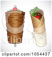 Royalty Free Vector Clip Art Illustration Of A Digital Collage Of Doner Kebabs