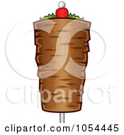 Royalty Free Vector Clip Art Illustration Of A Doner Kebab On A Stick by TA Images #COLLC1054445-0125