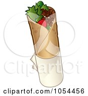 Royalty Free Vector Clip Art Illustration Of A Doner Kebab Wrap by TA Images #COLLC1054456-0125