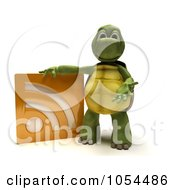 Royalty Free Clip Art Illustration Of A 3d Tortoise With An RSS Symbol