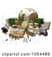 Royalty Free Clip Art Illustration Of A 3d Tortoise Recycling by KJ Pargeter