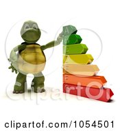 Royalty Free Clip Art Illustration Of A 3d Tortoise With An Energy Rating Chart
