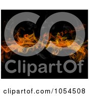 Royalty Free Clip Art Illustration Of A Background Of Fire And Smoke On Black