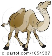 Royalty Free Vector Clip Art Illustration Of A Brown Camel 3 by Lal Perera