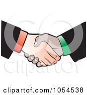 Royalty Free Vector Clip Art Illustration Of A Business Handshake 2 by Lal Perera