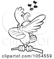 Outlined Singing Bird