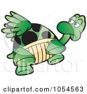 Royalty Free Vector Clip Art Illustration Of A Flying Tortoise by Lal Perera