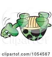Royalty Free Vector Clip Art Illustration Of An Upside Down Tortoise by Lal Perera