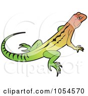 Royalty Free Vector Clip Art Illustration Of A Colorful Lizard by Lal Perera