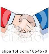 Royalty Free Vector Clip Art Illustration Of A Business Handshake 4