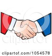 Royalty Free Vector Clip Art Illustration Of A Business Handshake 1