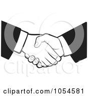 Poster, Art Print Of Black And White Business Handshake